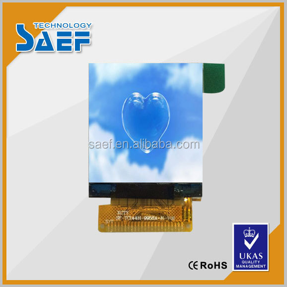 "23 pins 1.44"" tft portrait type 128x128 without Resistive Touch panel LCD display"