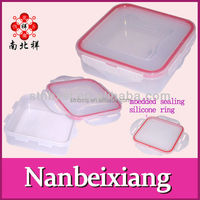 Convenient Square type Plastic Food Storage Container Crisper With Leakproof Cover