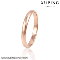 13768 Xuping best sellers custom rode gold color o ring without stone jewelry