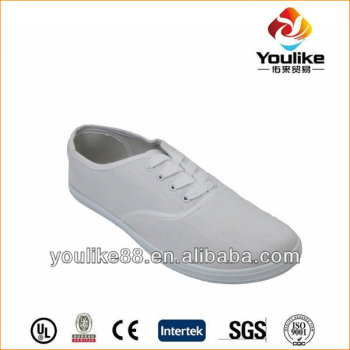 yl7689 cheap plain white canvas shoes buy plain