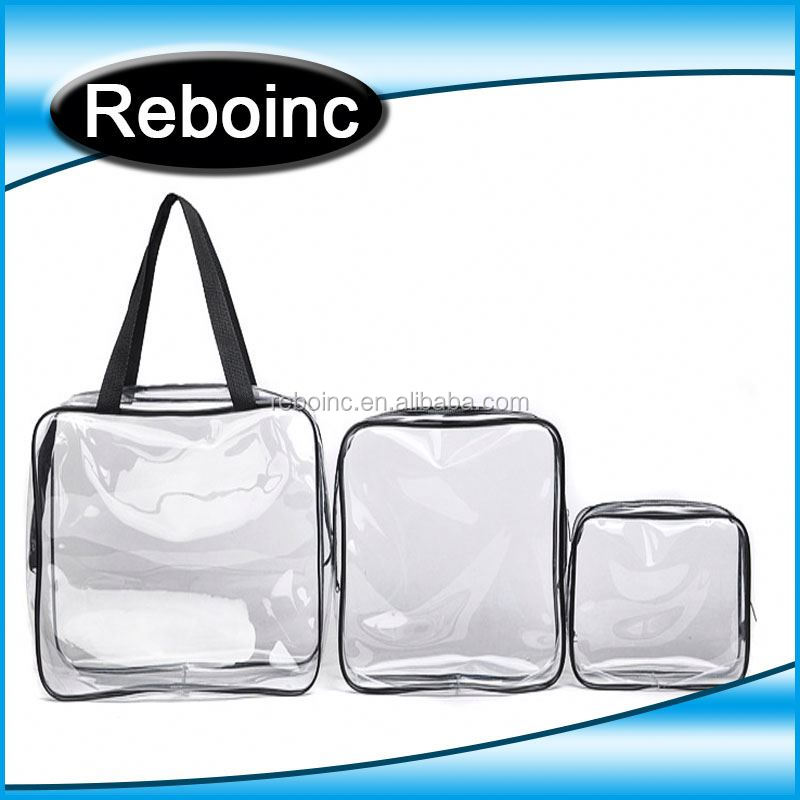 Wholesale clear mesh PVC cosmetic bag plain mini makeup bag