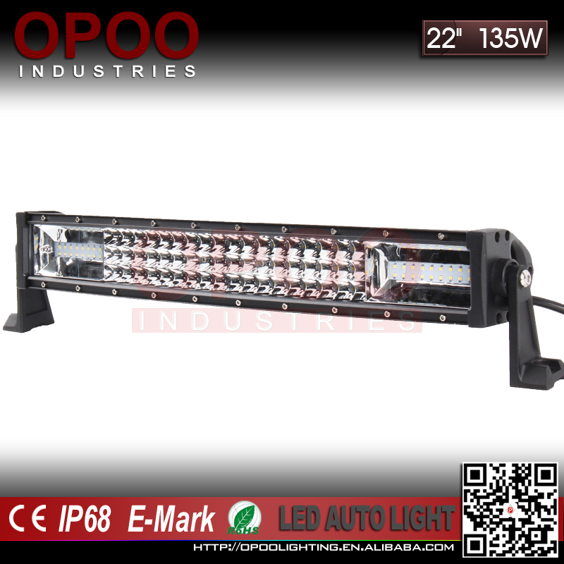 "Wholesale off road led light bar, curved triple row 22"" 135w off road led light bar"