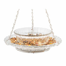 glass royal wing bird feeder/acrylic bird feeder