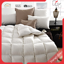 Wholesale white duck down filled comforter, decorative down comforters