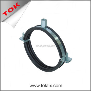 Standard Pipe Clamp rubber flat clamp - M8+M10