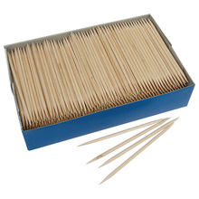 Disposable 6.5cm safety wood toothpicks for kids