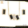 jewelry sets dubai custom jewelry set stylish necklace and earrings for party anniversary gift