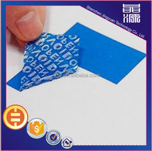 Paper box packaging labels VOID pattern type sticker secure sticker