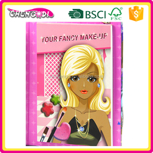 Super style whole price creative game for girl kid make up drawing book