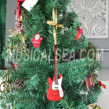 Miniature guitar christmas decoration for holiday