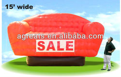 Advertising giant balloon inflatable sofa with logo S6004