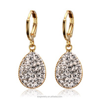 Costumized types of wholesale handmade beautiful small stone bride earrings