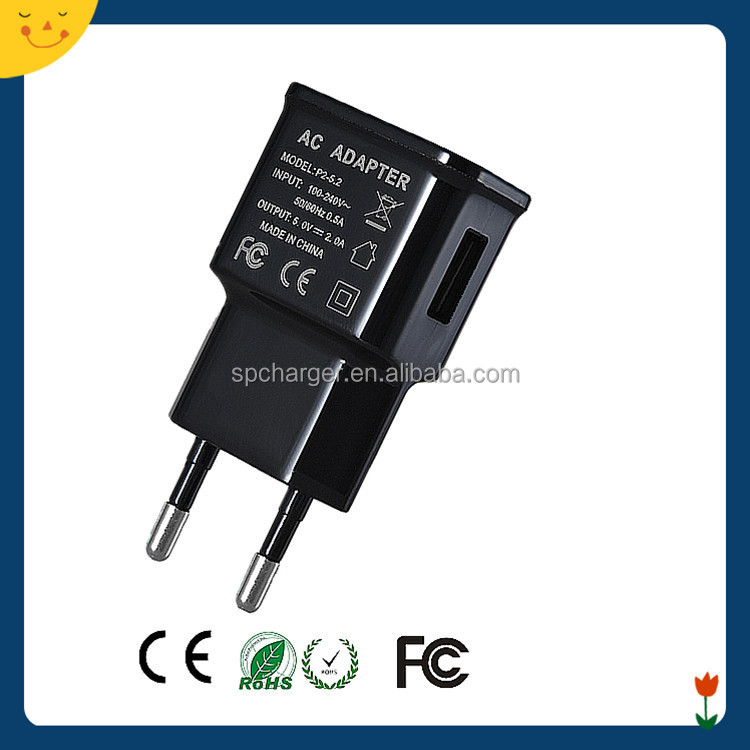 ABS material USB battery charger 5v 1A 2A