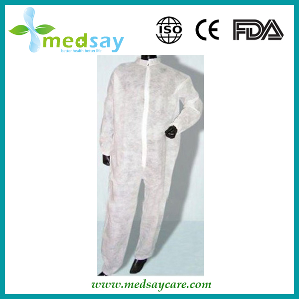 PP non woven without hood Disposable protective coverall