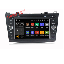 8 inch RK3188 cortex A9 quad core car stereo bluetooth for New Mazda3 with dvd 3g wifi obd2 function