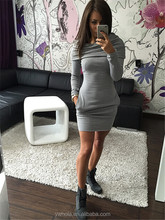 2016 Hot sale autumn women long sheeve bodycon club dress women cotton long hooded dress
