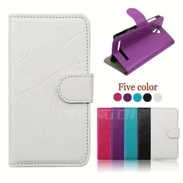 factory price flip leather case for samsung galaxy mini 2 s6500