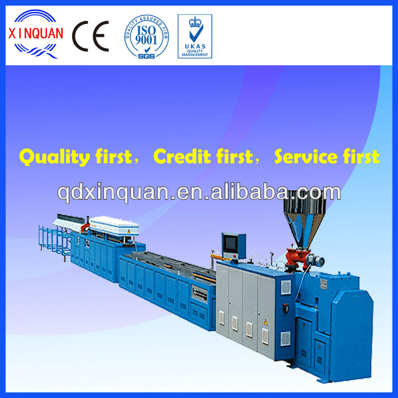 PE, PP and wood profile extrusion/PVC profile machine
