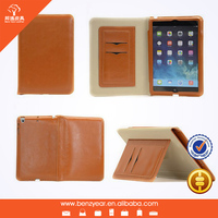 "2014 Hot Sell New Style PU Leather With Card Slots 8"" flip case for Ipad mini tablet pc cover"