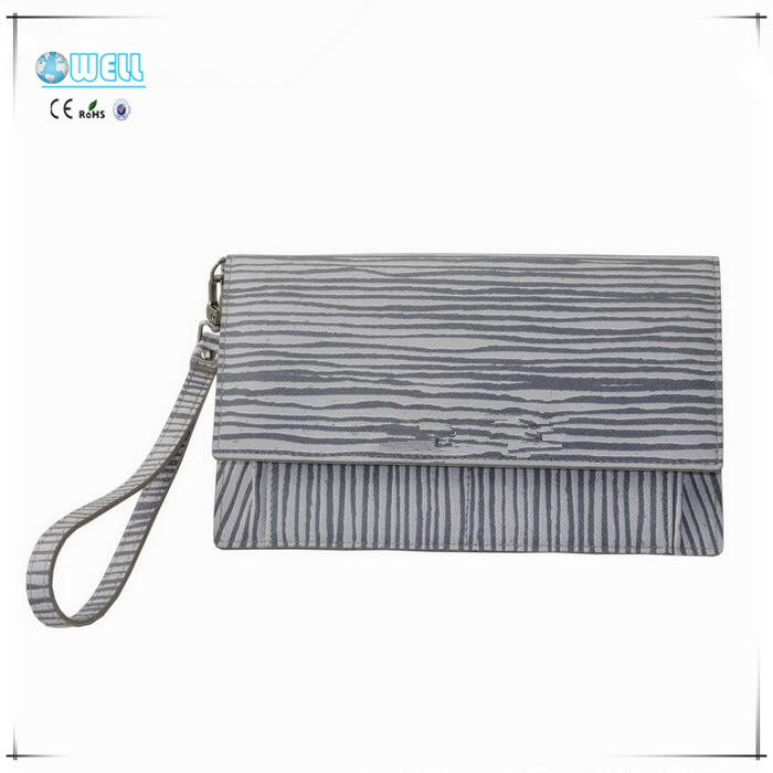 Zebra-stripe Print PU Leather ladies wallet