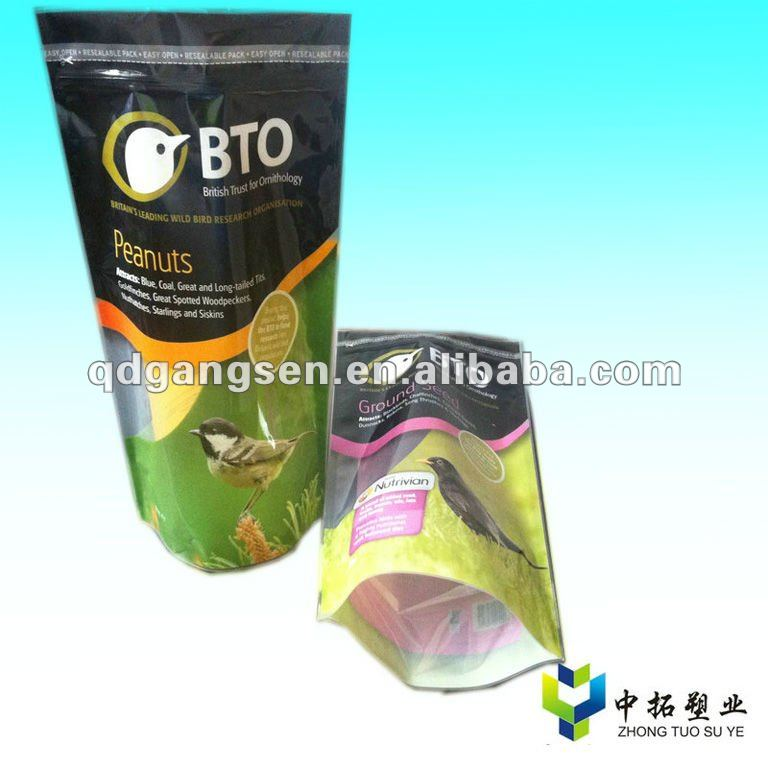 Stand up pouch plastic bags