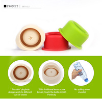 Portable Colorful Spill Proof Silicone Stretchable Bottle Cap