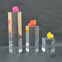 Factory wholesale clear acrylic display cube/Solid Acrylic cylinders