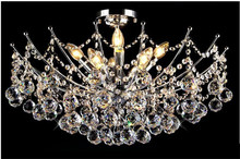 Modern Crystal Chandelier Light Fixture, Chrome Finish (Width 40cm ,50c, 65cm and 80cm)