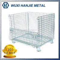 Stackable steel storage galvanized welded wire mesh cage(HJ-MC110)