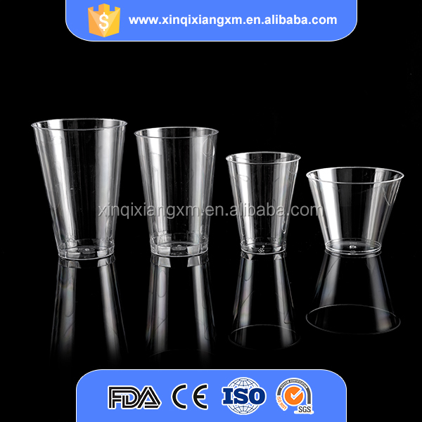 Custom made clear plastic ps large disposable cups