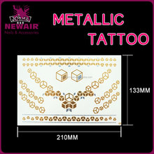 Eco-friendly flash gold metallic fluorescent body skin safe temporary tattoo sticker