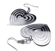 Modern stylish Peach Hearts for lady girl women fashion accesories drop earrings