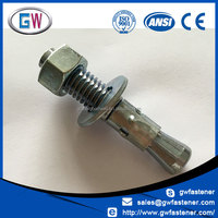 Factory price zinc plated customized anchor bolts m42