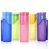 2016 multiple colors drink sports bottle collapsible silicone foldable water bottle