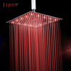 Fyeer 16 Inch Brushed Finishing Ultra Thin 304 Stainless Steel Rainfall Led Shower Head