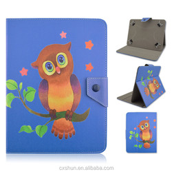 Cute Bird PU Leather with Folio Stand 7inch Universal Cases For Smart Tablets