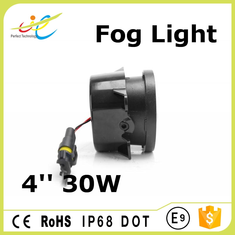 Wide operation voltage led fog light 30w 4inch driving fog light