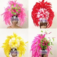 Feather Cabaret Showgirl Samba Headdress