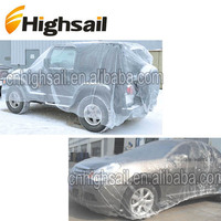 newly clear disposable universal plastic car cover