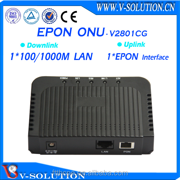 Mini size save shipping cost GEPON ONU 1*1000M RJ45 connector,FTTH EPON ONU modem