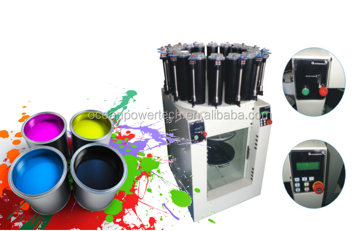 Easy maintenance manual color dispenser & auto gyro paint mixer / integrated paints making machine / colorant matching equipment