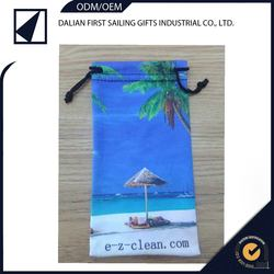 Hot Selling Custom multicolor Printing Sunglass Microfiber cleaning purse Pouch