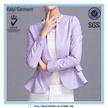 women jackets and blazers ,purple leather jacket for women