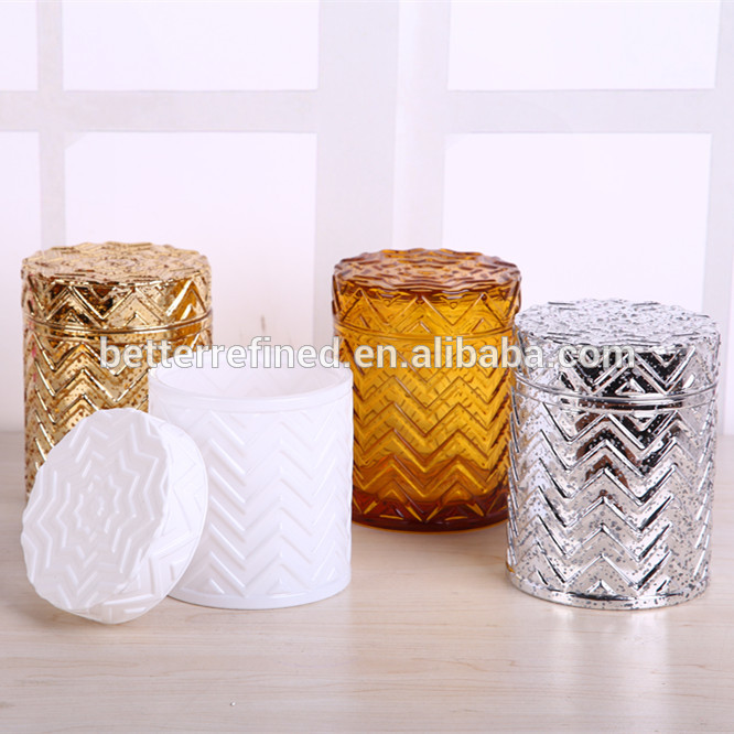 Amber Glass Candle Jar,Candle Glassware