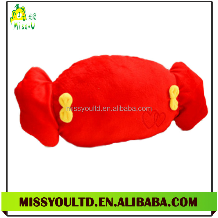 New Design Different Shapes Stuffed Candy Foam Particle Cotton Throw Pillow Wholesale
