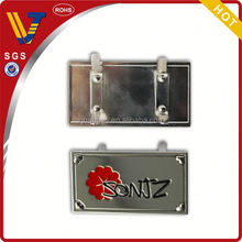 2014 High quality hot sell brand metal name plate