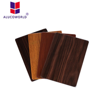 Alucoworld aluminum trailer side panel ACP wall cladding panels for sale