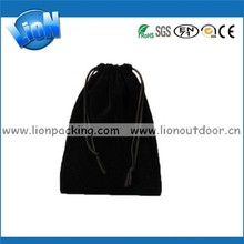 Top Quality Black Velvet Jewelry Pouch Gem Packing Bags
