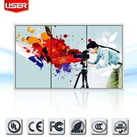 Commercial exhibition small lcd video display led backlight wall mount/floor stand