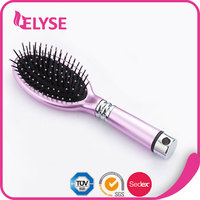 Promotional colorful flower design hair brush